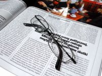 article and glasses