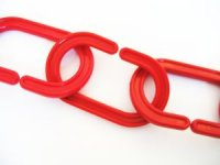image of plastic chain links