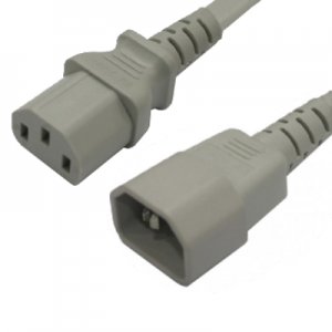 Leads Direct Iec C14 To Iec C13 Grey Mains Lead 2m